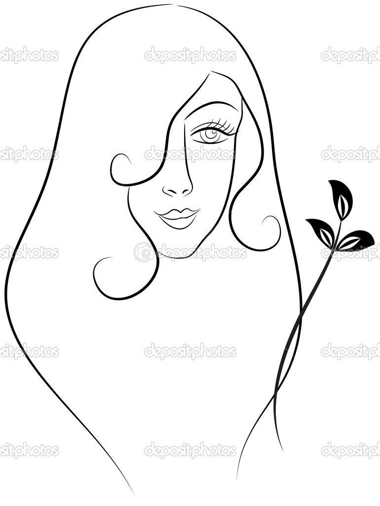 Makeup Artist Blank Coloring Pages