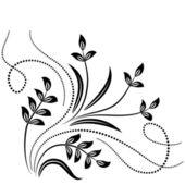 Decorative floral ornament — Stock Vector