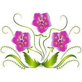 Dekorativa blommor prydnad装飾的な花飾り — ストックベクタ