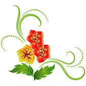 Dekorativa blommor prydnad装飾的な花飾り — Stockvektor