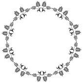 декоративный цветочный орнамент — Cтоковый вектор