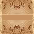 Vintage background with ornament — Vector de stock