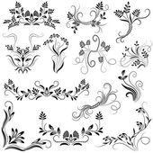 Set decorative ornaments — Stock Vector