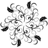 Decorative round ornament — Vector de stock