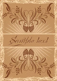 Vintage background with ornament — Stock Vector