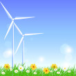 Wind turbines — Vector de stock #29857005