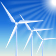 Wind turbines — Vector de stock #29857013