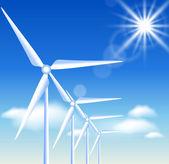 Wind turbines — Stock Vector