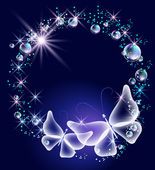 Butterflies and bubbles — Stock Vector