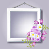 Photo frame and floral ornament. — Stock Vector
