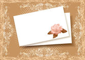 Background with paper and rose for insert of the text or a photo — Stock Vector
