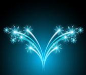 敬礼と花火の熱烈な背景 — ストックベクタ