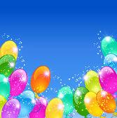 Tatil arka plan ile hava ile şişirilen balonlar — Stok Vektör