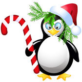 Pinguim com doces de natal — Vetorial Stock