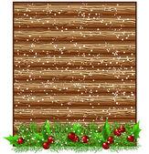 Christmas wooden signboard — Stockvektor