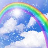 Sun and rainbow — Stock Photo