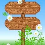Wooden signboard — Stock Vector #46539917