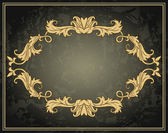 Vintage ornament frame  — Stock Vector