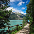 Molveno lake — Stock Photo