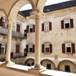 Castel thun inside view — Stock Photo