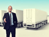 Man and truck — Stock Photo