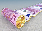 Euro carpet — Stock Photo