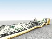 Dollar carpet — Stock Photo