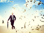 Money rain on me — Stock Photo