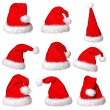 Santa claus hat collection — Stock Photo