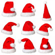 Santa claus hat collection — Stock Photo #14567813