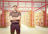 Werknemer op plicht — Stockfoto