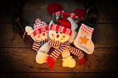 Snowman christmas decoration — Stock Photo