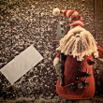 Santa claus background — Stock Photo