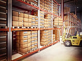 Warehouse background — Stockfoto