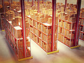 Warehouse 3d — Stockfoto
