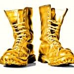 Постер, плакат: Golden combat boots