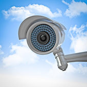 Cctv and sky background — Stock Photo