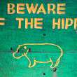 Beware hippo - Stock Photo