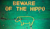 Beware hippo — Stock Photo