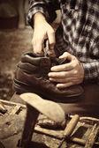 Iş yerinde Kundura — Stok fotoğraf