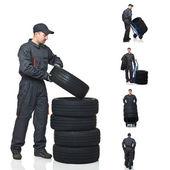Mechanic op plicht collectie — Stockfoto