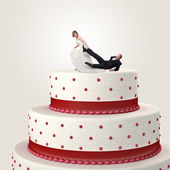 Funny cake topper — Stock Photo