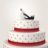 Funny cake topper — Stock Photo
