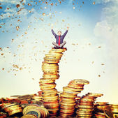Money rain — Foto Stock