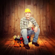 Carpenter portrait — Stock Photo