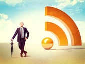 Rss business — Stock Photo