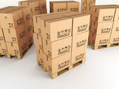 3d pallets — Stock Photo