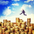 Jump on money — Stock Photo #21935761