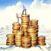Help to getting rich — Stock Photo