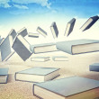Stock Photo: Flying books